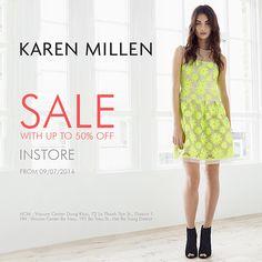 Tháng 7 sale off, Khuyến mãi Karen Millen - Giảm giá lên đến 50% off