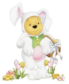 Disney Easter Winnie the Pooh Clipart Winne The Pooh, Disney Winnie The Pooh, Ostern Wallpaper, Winnie The Pooh Pictures, Disney Clipart, Bunny Costume, Easter Pictures, Hoppy Easter, Easter Bunny