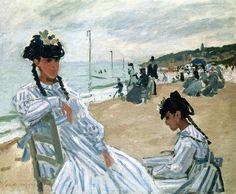 Claude Monet - Sur la plage à Trouville