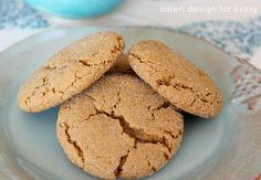 Soft and Chewy Ginger Cookies #cookies #recipe