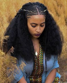Ethiopian Hair, Ethiopian Beauty, Ethiopian Wedding, Afro Hair Style, Curly Hair Styles, Natural Hair Styles, Black Girls Hairstyles, Cute Hairstyles, African Hairstyles For Ladies