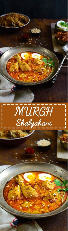 Murgh Shahjahani is a rich and creamy recipe of chicken where chicken is cooked in a rich masala made with dry fruits, onions and spices. Veg Recipes, Curry Recipes, Indian Food Recipes, Asian Recipes, Chicken Recipes, Cooking Recipes, Healthy Recipes, Recipies, Indian Foods