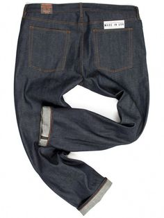 63195c13b1 Big Mens Slim Raw Denim Japanese Selvedge Jeans | Williamsburg Garment Co.  #MensJeans Usa