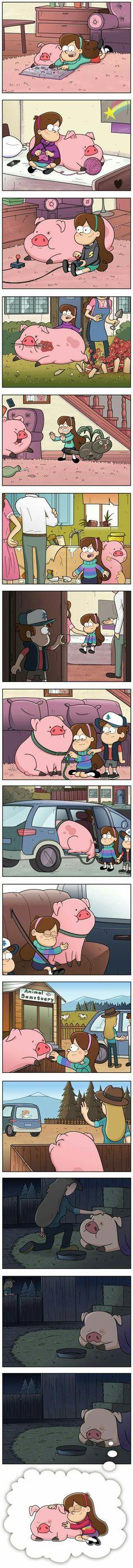 Esto fue lo qué pasó con Mabel y pato cuando se fueron de Gravity fall