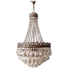 Empire Chandelier Crystal Sac a Pearl Lamp Lustre Art Nouveau