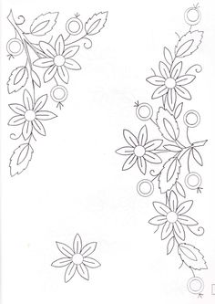 ru / Photo # 88 – Album of patterns – Los-ku-tik - Stickerei Ideen Floral Embroidery Patterns, Silk Ribbon Embroidery, Applique Patterns, Hand Embroidery Designs, Applique Designs, Flower Patterns, Embroidery Stitches, Machine Embroidery, Bordado Tipo Chicken Scratch