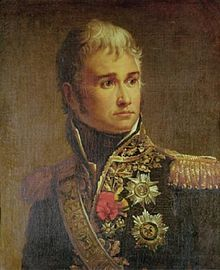 """Jean Lannes, 1st Duc de Montebello was a Marshal of the French Empire. He was one of Napoleon's most daring and talented generals. Napoleon once commented on Lannes: """"I found him a pygmy and left him a giant"""". A personal friend of the emperor, he was allowed to address him with the familiar """"tu"""", as opposed to the formal """"vous""""."""