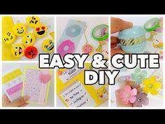 DIY School supplies!6 Easy DIY crafts for back to school - YouTube