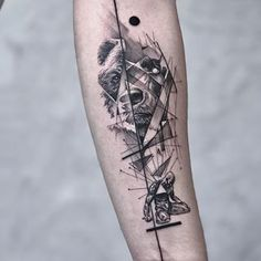 Image may contain: one or more people and closeup Tattoo Goat, Body Tattoos, Art Tattoos, Tatoos, Bear Sketch, Samurai Artwork, Close Up, Drawing Sketches, Drawings