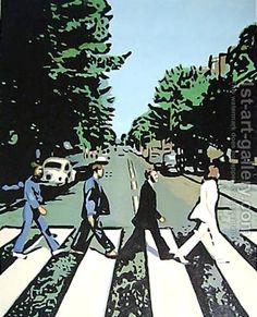 The Beatles Abbey Road by Pop Art