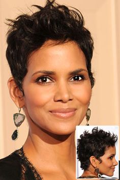 Forget everything you've heard about short curly hairstyles. The pixie hairstyles are the best idea for a new style of new season. Consider Halle Berry and. Haircuts For Curly Hair, Pixie Hairstyles, Pixie Haircut, Curly Hair Styles, Natural Hair Styles, Short Curly Pixie, Short Hair Cuts, Short Curls, Long Curly
