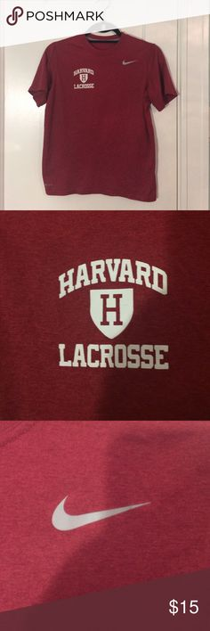 Maroon Nike Harvard Lacrosse Athletic Shirt This shirt is perfect for any workout! Good condition and very comfortable. Nike Tops Tees - Short Sleeve