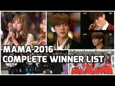 Mnet Asia Music Awards MAMA 2016 Final Winners and Results (BTS EXO TWIC...