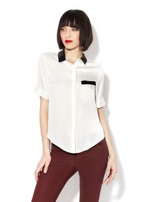 short sleeved silk blouse. can be done in few different colors