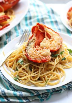 Lobster Spaghetti with Paprika Tomato Honey Red Pepper Butter Sauce