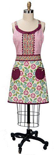 Kay Dee Designs Rhapsody Cotton Girlie Apron with Pocket, Raspberry Bohemian Kitchen, Apron Pockets, Cool Things To Buy, Stuff To Buy, Refashion, Repurpose, Raspberry, Amazon, Cotton