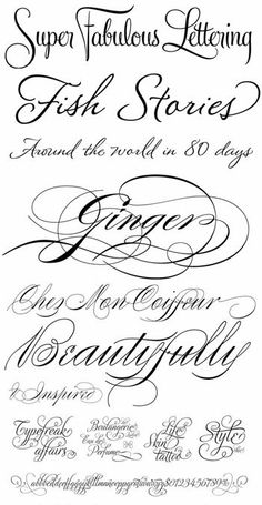 34 ideas for tattoo fonts cursive pretty scripts - Hair Nails Beauty Tattoos Piercings - Calligraphy Fonts, Typography Fonts, Hand Lettering, Cursive Script, Calligraphy Alphabet, Tattoo Fonts Cursive, Lettering Tattoo, Font Alphabet, Lettering Tutorial