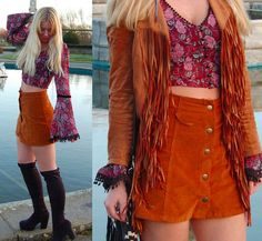 Corduroy High Waisted Button A Line Skirt