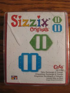 Sizzix Red Die Originals Rectangle Triangle Tabs   eBay