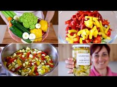 pickles and sour Sweet And Sour Vegetables, Colorful Vegetables, Mixed Vegetables, Veggies, Rice Salad, Stuffing Recipes, Vegetable Salad, Italian Dishes, Stuffed Hot Peppers