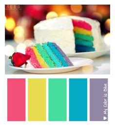 Multicolor. Feliz Cumpleaños para mí! Un color para cada deseo. Fucsia para el amor. Amarillo para la buena energía. Verde para la Bue...