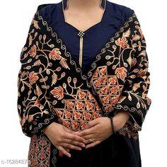 Shawls WOOLEN STOLES Fabric: Wool Multipack: 1 Sizes:  Free Size (Length Size: 2.2 m)  Country of Origin: India Sizes Available: Free Size   Catalog Rating: ★4.5 (852)  Catalog Name: Elegant Stylish Women Shawls CatalogID_3242393 C74-SC1011 Code: 174-16284878-3711