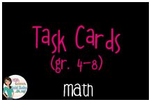 Math task cards for grades Math Task Cards, Neon Signs