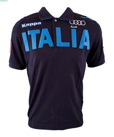 Kappa Men Italian Alpine Team Polo Shirt - Navy Blue