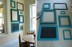 Best Decor Hacks : Interchangable frames for your children's art Frames On Wall, Framed Wall Art, Art Frames, Painted Frames, Frames Decor, Art Wall Kids, Art For Kids, Art Children, Child Art