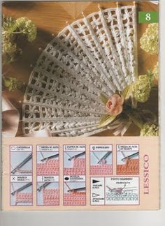 Ventaglio spiegato italiano Victorian Fashion, Crochet Projects, Projects To Try, Crochet Patterns, Embroidery, Sewing, Creative, Crafts, Carino