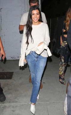 Kourtney Kardashian from The Big Picture: Today's Hot Photos  All smiles! The reality star keeps it casual in Los Angeles.