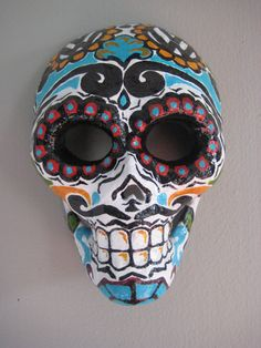 Sugar Skull Day of the Dead Mask by VonSwag, $200.00