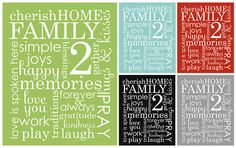 ^Family word art collage & phrases download
