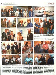 """La exposición de Andante en La Coruña en """"El Correo Gallego""""."""