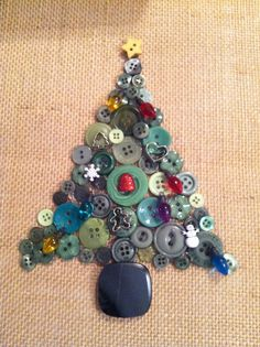 Christmas tree button picture. Framed. Made by Passmore Knick-Knacks.  Follow me on FB as well.