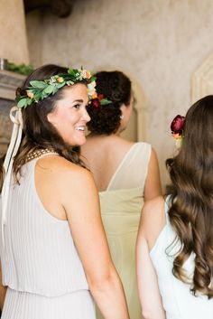 Crown of Bridesmaid Flowers | Sweet Monday Photography | http://knot.ly/6495BLsSJ | http://knot.ly/6496BLsSK