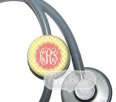 Stethoscope ID Tag. $7.99, via Etsy. Oh my gosh for when i graduate grad school!!