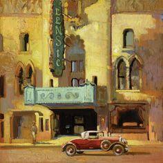 "Francis Livingston, ""The Lensic"", oil on panel, 20″ x 20″"