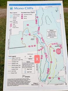 Map of Mono Cliffs Provincial Park | Family friendly hike suggestions | Where to Park | Ontario Parks