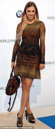 Model Amber Le Bon wearing a Missoni lacy lurex dress at BMW 13 global reveal party in London on Dailymail.co.uk