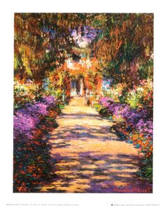 The Artist's Garden at Giverny, c.1900 Print by Claude Monet at AllPosters.com