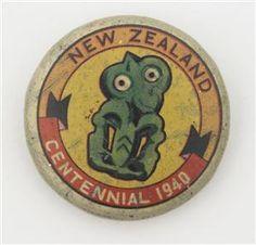 1940 Centennial hei tiki brooch