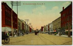 Spring Sale! Rome NY W. Dominick St. Antique 1920 Postcard, New York State, Color, Vintage, OakwoodView, $4.00