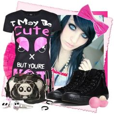 """may be CUTE"""" by scene-x liked on Polyvore 