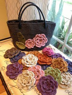 AnnieColors: My Crochet bag Crochet Tote, Crochet Handbags, Crochet Purses, Crochet Stitches, Knit Crochet, Crochet Flower Patterns, Crochet Flowers, Bag Pattern Free, Freeform Crochet