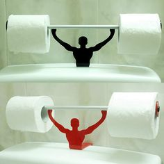 Funny Bathroom Toilet Paper Tissue Roll Holder Strong Man Weightlifter Stand New | eBay