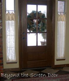 Beautiful Entry Door Window Coverings