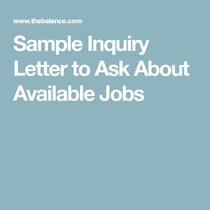 Sample Letters Of Interest For Unadvertised Jobs  Resignation Letter