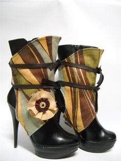 {Spats by Joelma Souza on etsy. $69}   Now, how to make a pair....
