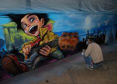 art bus, grafity